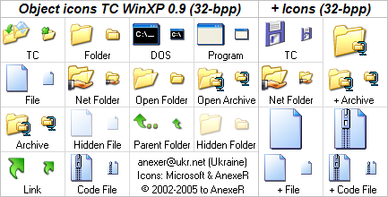 Object icons TC WinXP